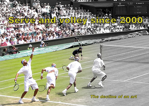Serve and volley since 2000 – The decline of an art.