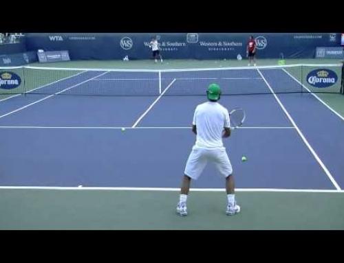Rafael Nadal Backhand Drill in HD Back View