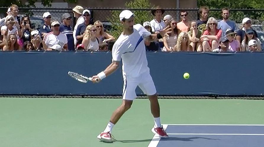 Novak Djokovic Forehand In Slow Motion