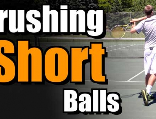 Returning a High Bouncing Mid Court Ball
