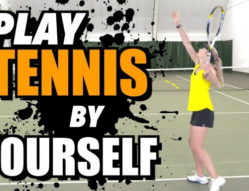 How to PLAY TENNIS by YOURSELF – tennis lesson