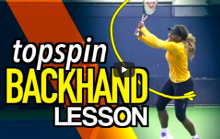 Topspin Backhand Tennis