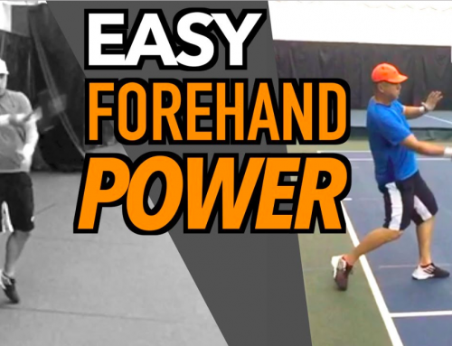 GET MORE POWER ON YOUR FOREHAND | Tennis Lesson