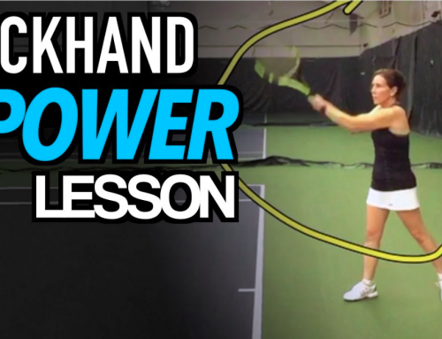 Two Handed BACKHAND Tennis Lesson: INCREASE YOUR POWER – Technique + Drills