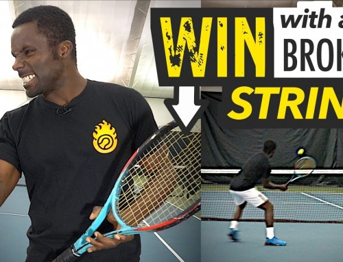 How to WIN points with a broken string! – tennis lesson