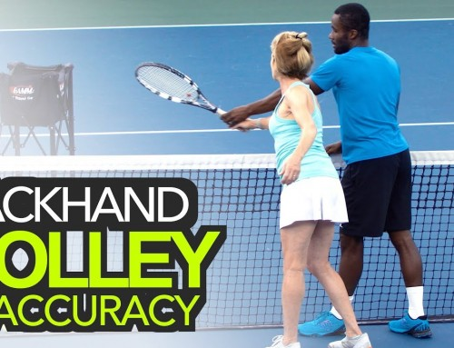 EXCLUSIVE VIP Access: Backhand Volley Accuracy (tennis lesson)