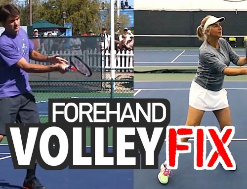 Forehand Volley FIX (tennis lesson)