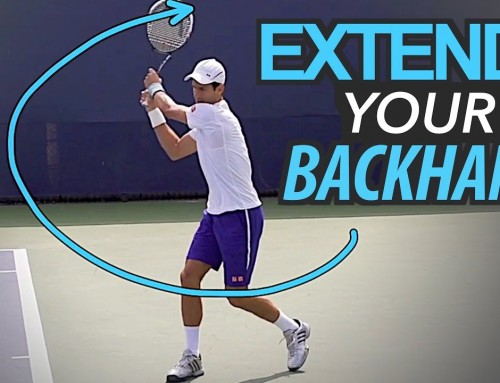 Extend your Backhand for POWER and SPIN (tennis lesson)
