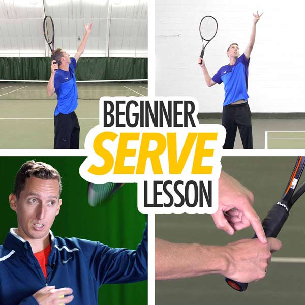 Tennis serve lesson for beginners