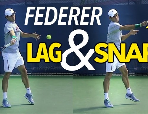 Federer LAG & SNAP Forehand Lesson (slow motion)
