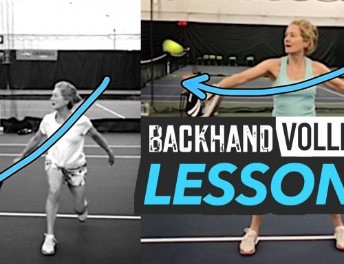Backhand Volley Swing Path (tennis lesson)