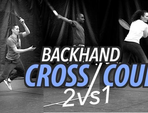 2 vs 1 Crosscourt PART 2 (Backhand) – Baseline Point Play