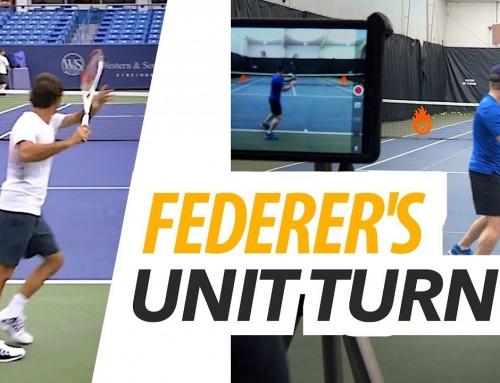 Forehand UNIT TURN like Federer – tennis lesson