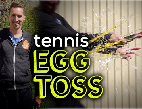 Tennis EGG TOSS Touch Drill (slow motion)