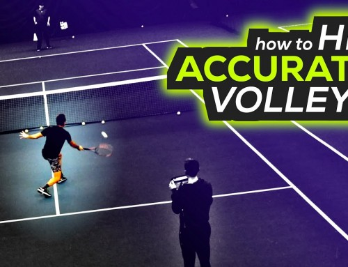 How to hit ACCURATE volleys (tennis lesson)