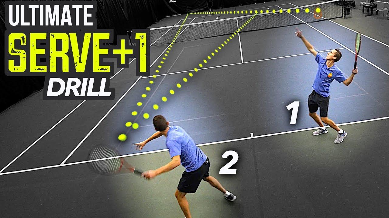 ULTIMATE Serve Plus 1 Drill (tennis singles tactics)