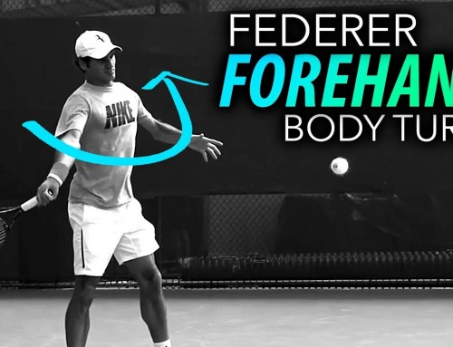 Federer's Body Turn – forehand power tennis lesson