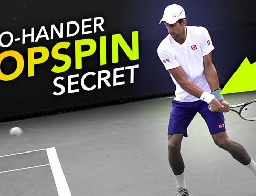 HEAVY Two-Hander Topspin Secret – backhand tennis lesson