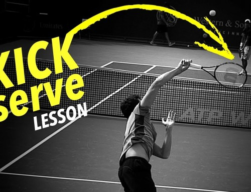 How to hit a KICK SERVE (tennis lesson)