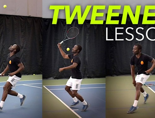 How to hit a TWEENER (tennis lesson)