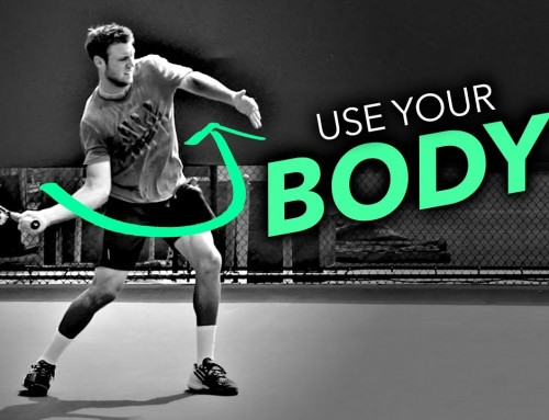 Use your BODY (not your arm) for Forehand Power