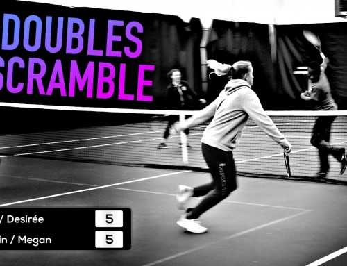 Doubles SCRAMBLE (competitive touch/feel tennis game)