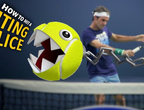 How to hit a BITING Slice (tennis lesson)