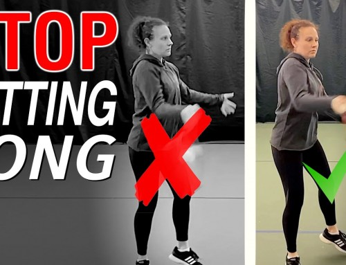 Stop hitting the ball LONG – tennis lesson