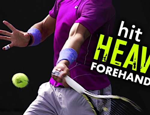 How to hit HEAVY / forehand tennis lesson